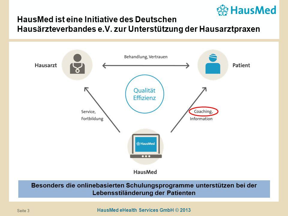 HausMed eHealth Services GmbH © 2013 Seite 3 HausMed ist eine Initiative des Deutschen Hausärzteverbandes e.V.