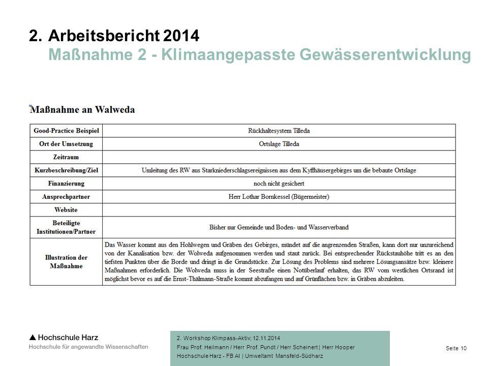 Seite 10 Hochschule Harz - FB AI | Umweltamt Mansfeld-Südharz 2.