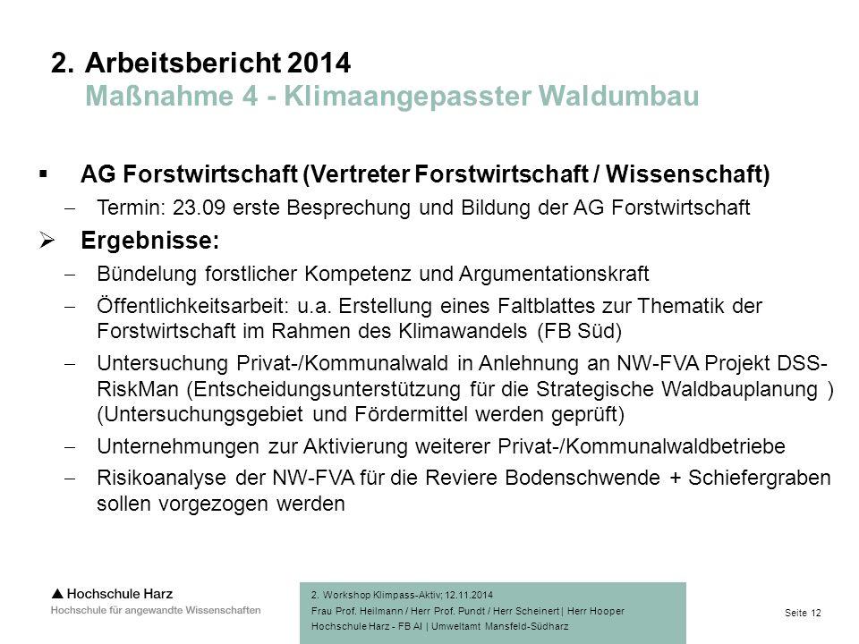 Seite 12 Hochschule Harz - FB AI | Umweltamt Mansfeld-Südharz 2.