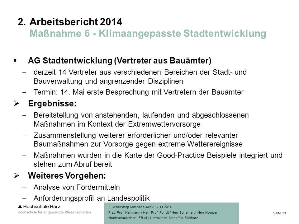 Seite 13 Hochschule Harz - FB AI | Umweltamt Mansfeld-Südharz 2.