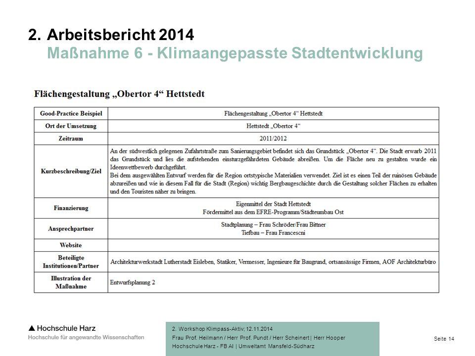 Seite 14 Hochschule Harz - FB AI | Umweltamt Mansfeld-Südharz 2.