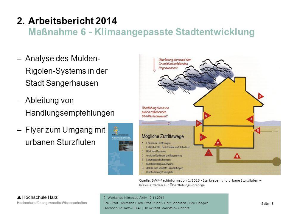 Seite 15 Hochschule Harz - FB AI | Umweltamt Mansfeld-Südharz 2.