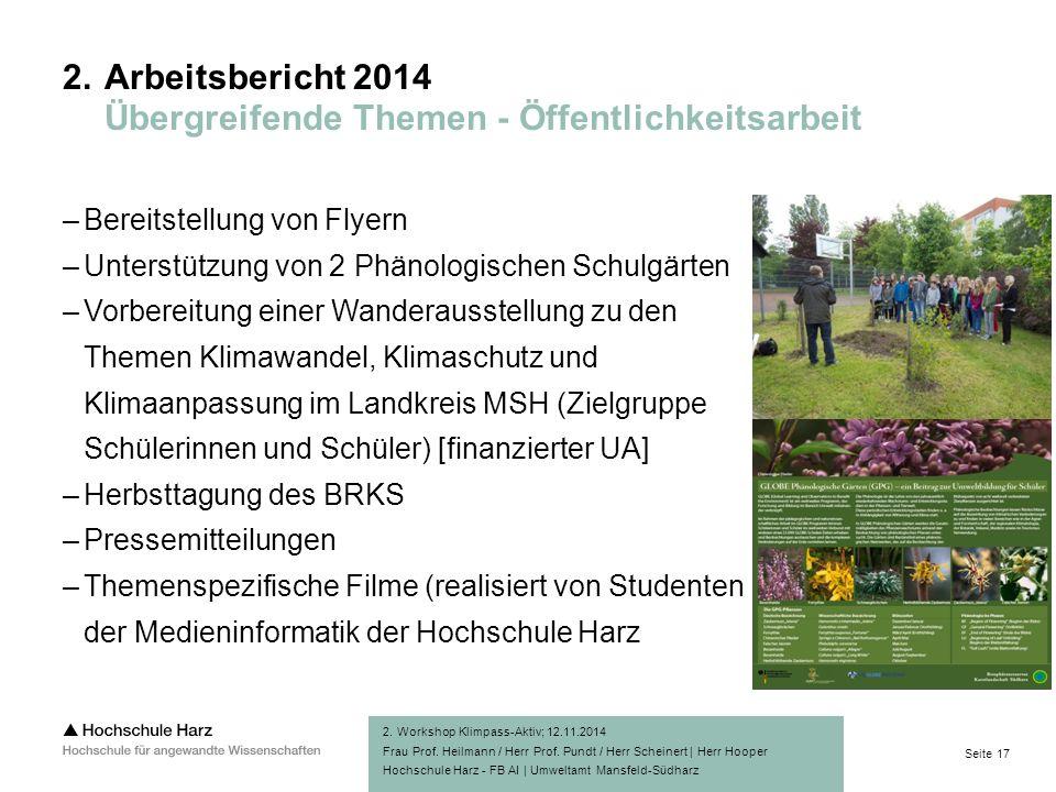 Seite 17 Hochschule Harz - FB AI | Umweltamt Mansfeld-Südharz 2.