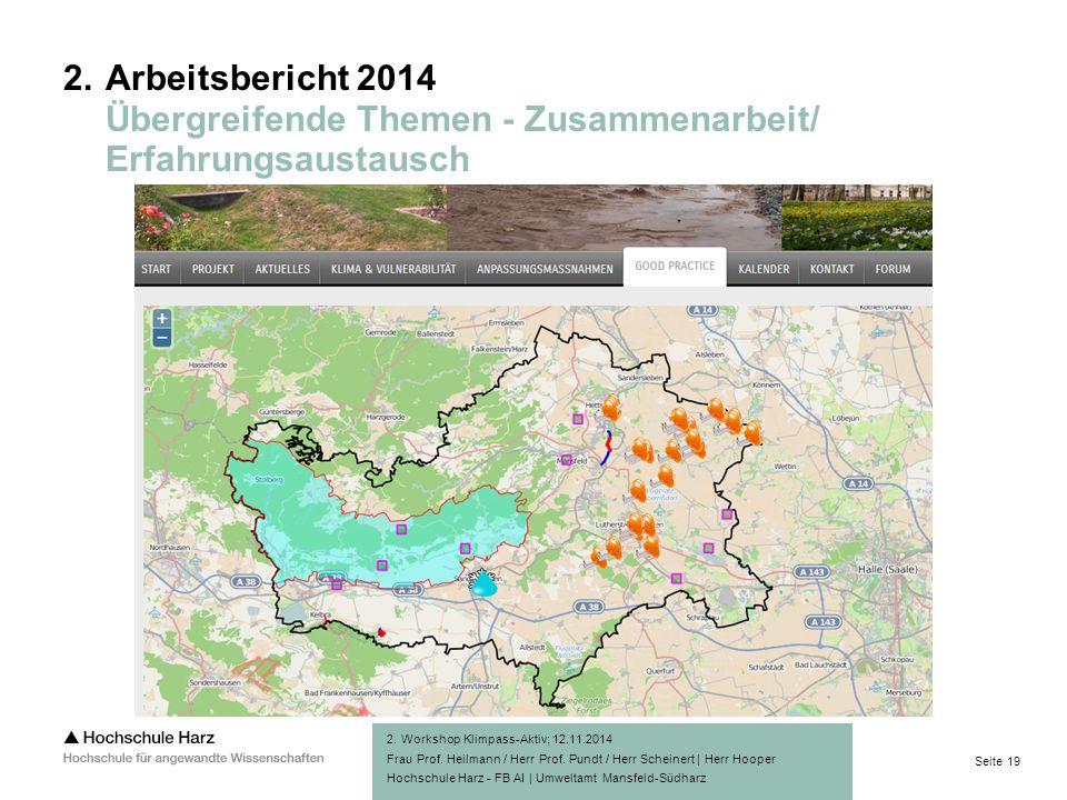 Seite 19 Hochschule Harz - FB AI | Umweltamt Mansfeld-Südharz 2.