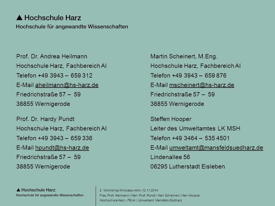 Seite 28 Hochschule Harz - FB AI | Umweltamt Mansfeld-Südharz 2.