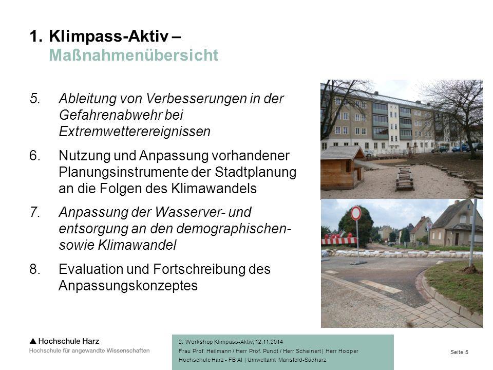 Seite 5 Hochschule Harz - FB AI | Umweltamt Mansfeld-Südharz 1.