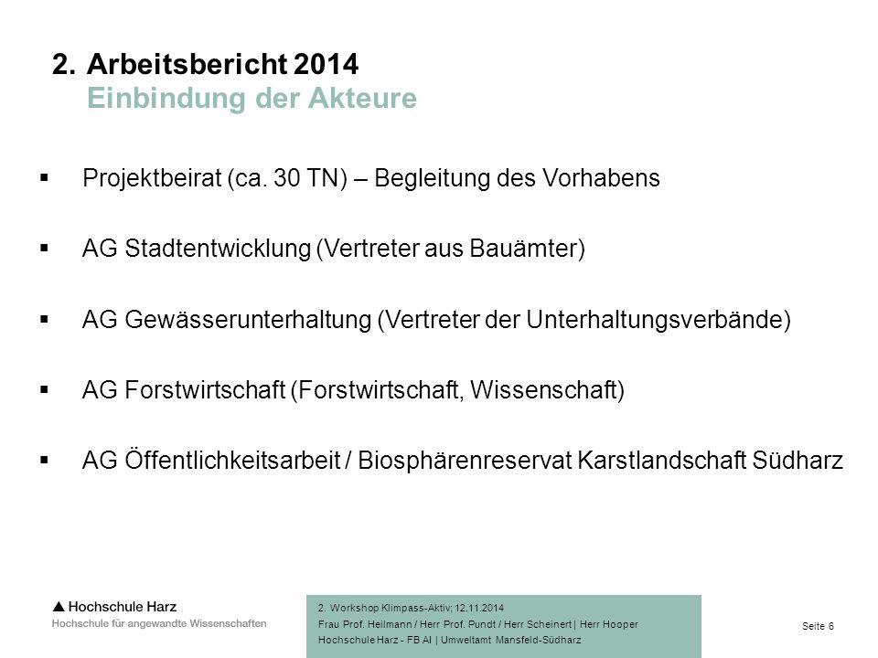 Seite 6 Hochschule Harz - FB AI | Umweltamt Mansfeld-Südharz 2.