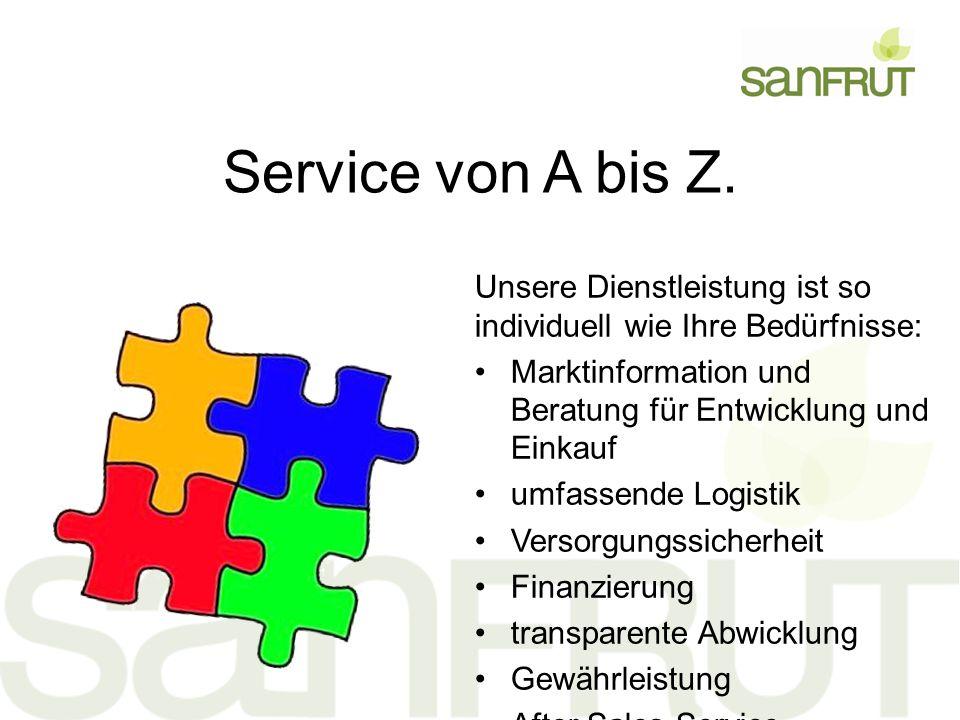 Service von A bis Z.