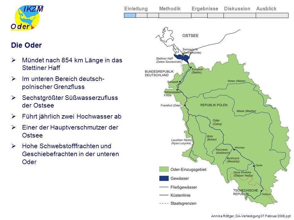 Annika Röttger, DA-Verteidigung 07.Februar 2006.ppt  Mündet nach 854 km Länge in das Stettiner Haff  Im unteren Bereich deutsch- polnischer Grenzflu
