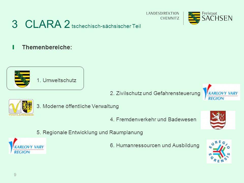 9 3CLARA 2 tschechisch-sächsischer Teil ❙ Themenbereiche: 1.