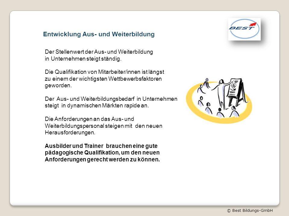 © Best Bildungs-GmbH Der Stellenwert der Aus- und Weiterbildung in Unternehmen steigt ständig.