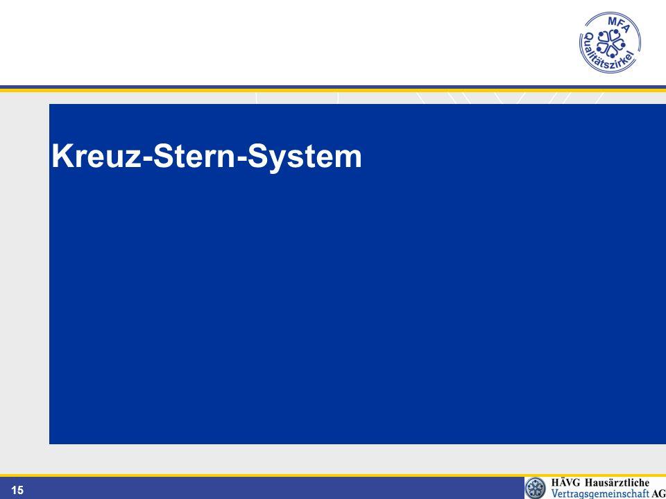 15 Kreuz-Stern-System