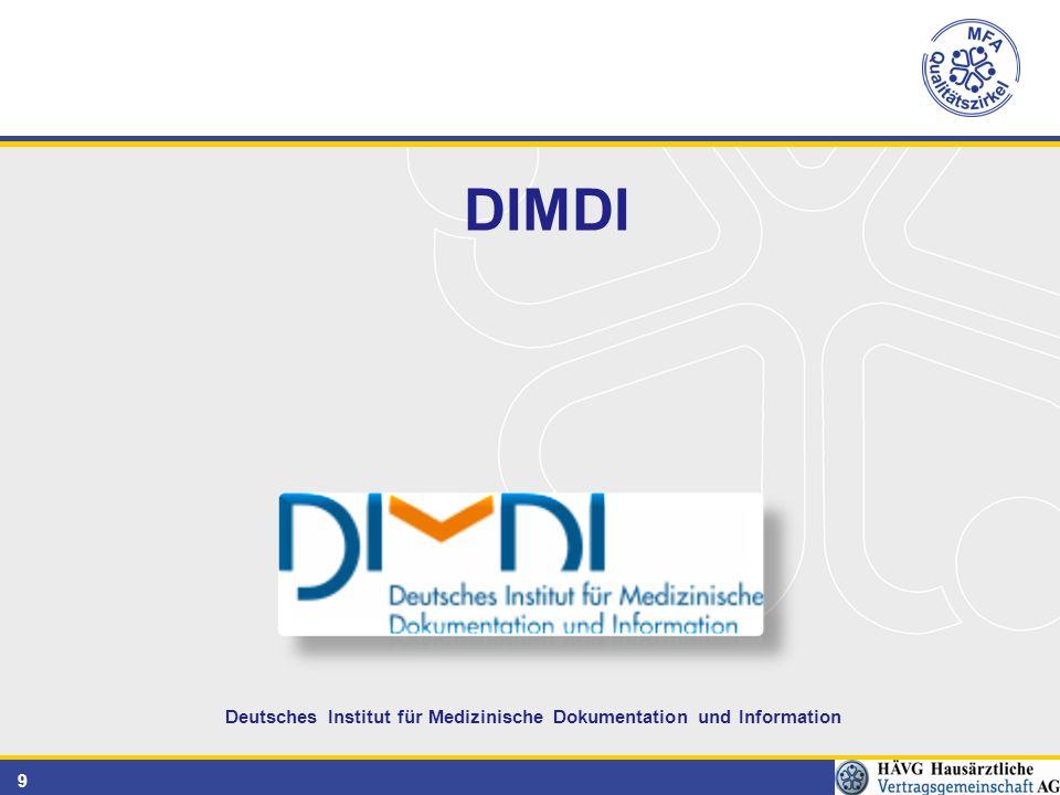 9 Deutsches Institut für Medizinische Dokumentation und Information