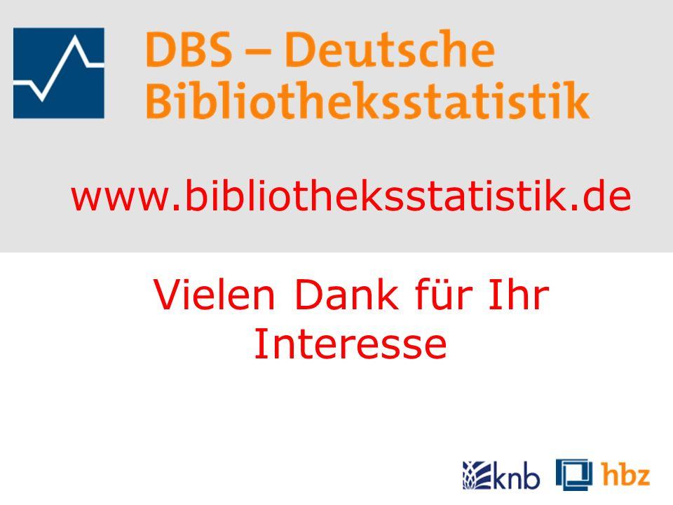 www.bibliotheksstatistik.de Vielen Dank für Ihr Interesse