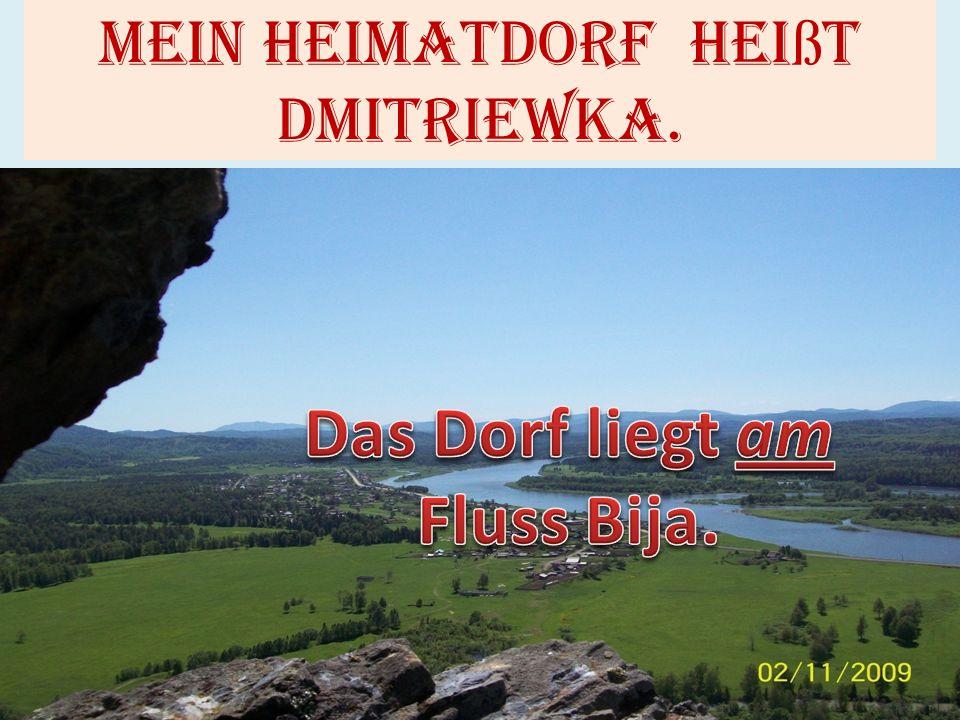 Mein Heimatdorf hei ß t dmitriewka.