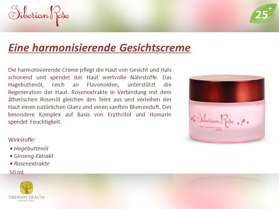 Eine harmonisierende Gesichtscreme Die harmonisierende Creme pflegt die Haut von Gesicht und Hals schonend und spendet der Haut wertvolle Nährstoffe.
