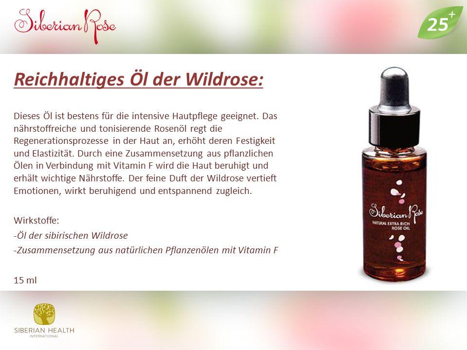 Reichhaltiges Öl der Wildrose: Dieses Öl ist bestens für die intensive Hautpflege geeignet. Das nährstoffreiche und tonisierende Rosenöl regt die Rege