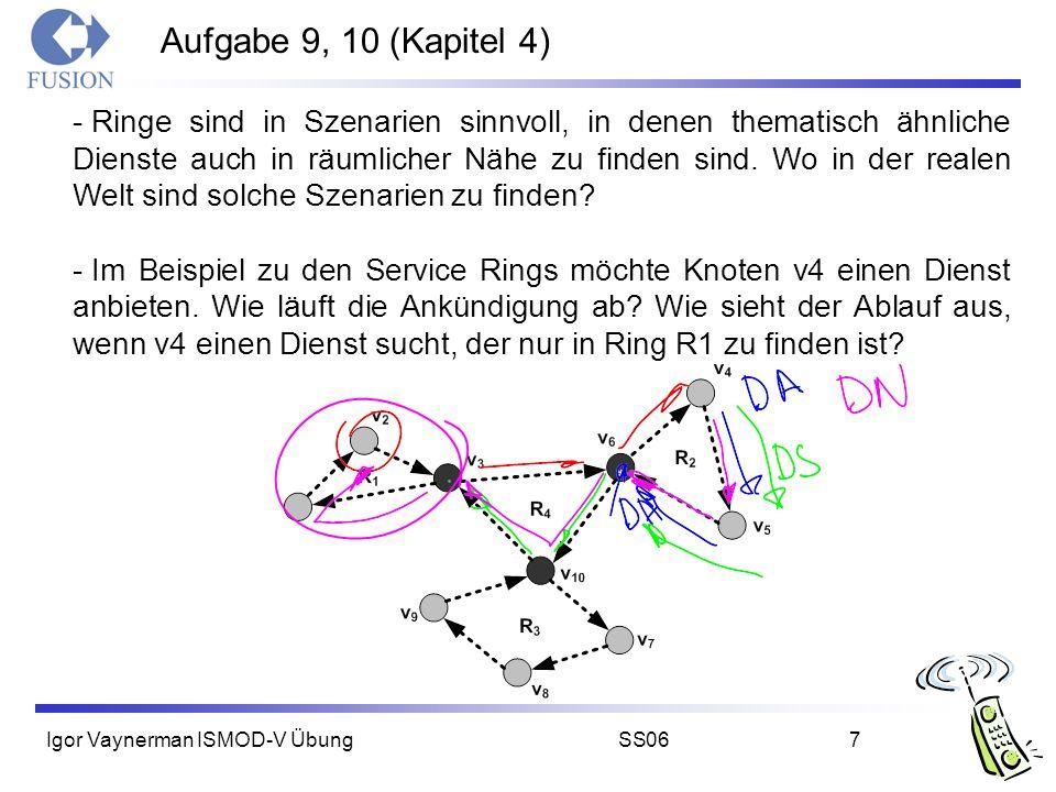 Igor Vaynerman ISMOD-V ÜbungSS067 Aufgabe 9, 10 (Kapitel 4) - Ringe sind in Szenarien sinnvoll, in denen thematisch ähnliche Dienste auch in räumliche