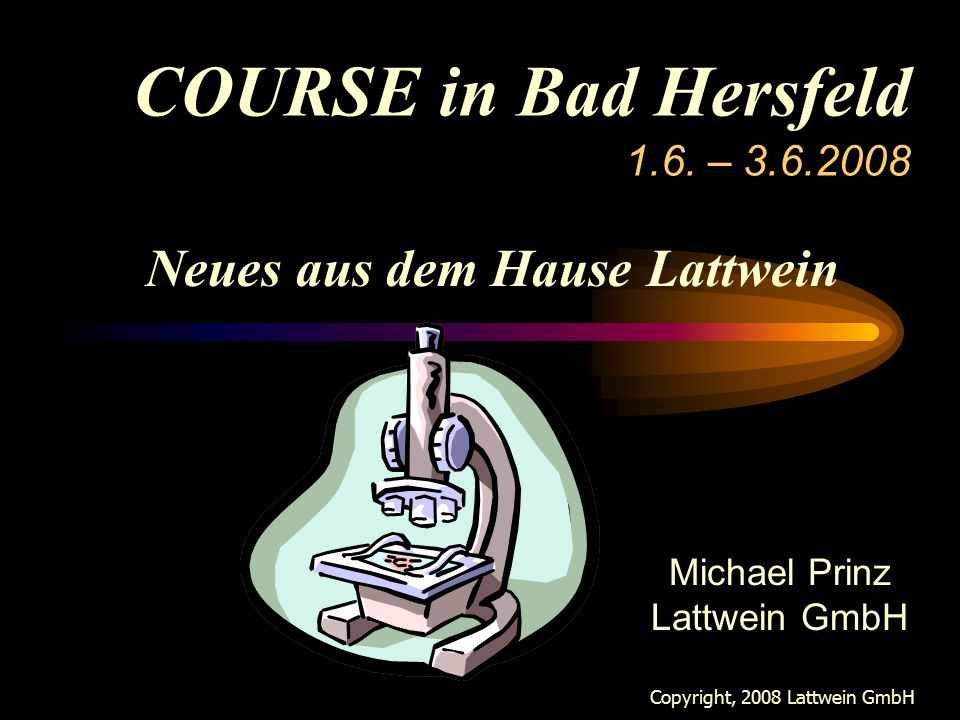 COURSE in Bad Hersfeld 1.6.