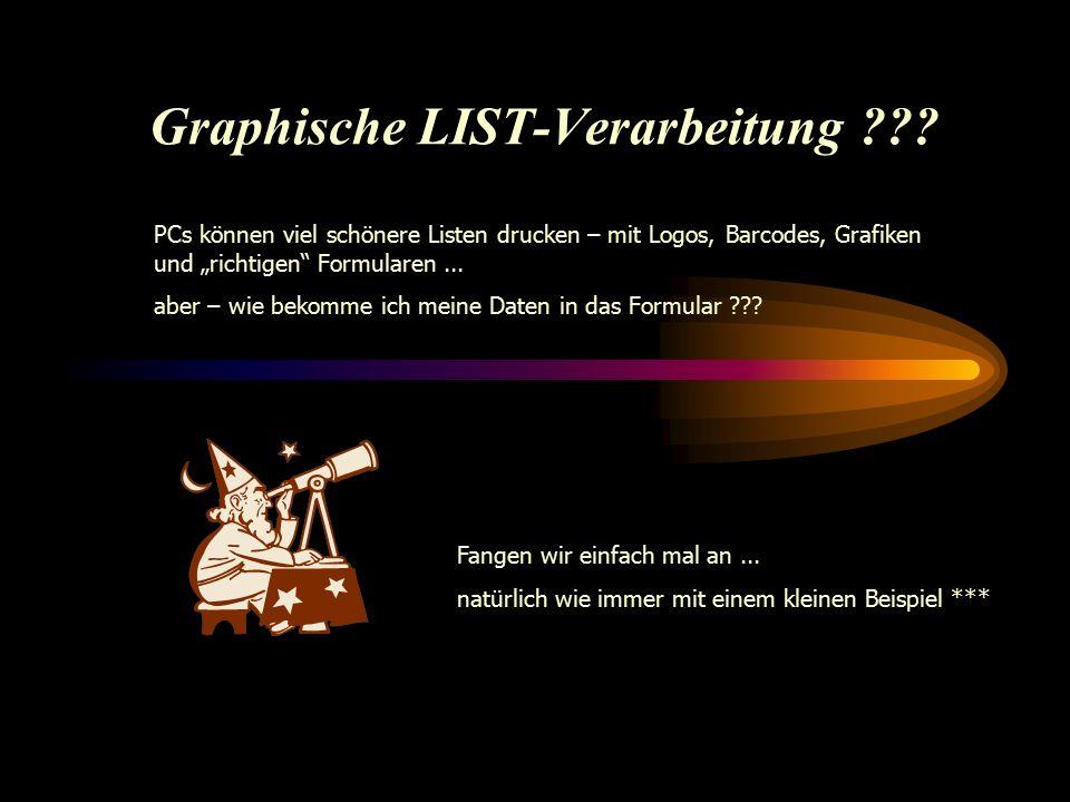 Graphische LIST-Verarbeitung .