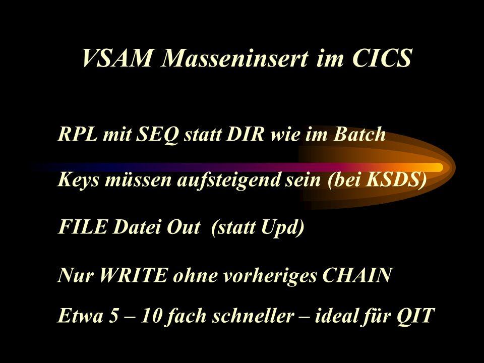Wie geht das .PCVSE Word Formular LIST Dokument LIST Programm Daten VSAM, DB2...