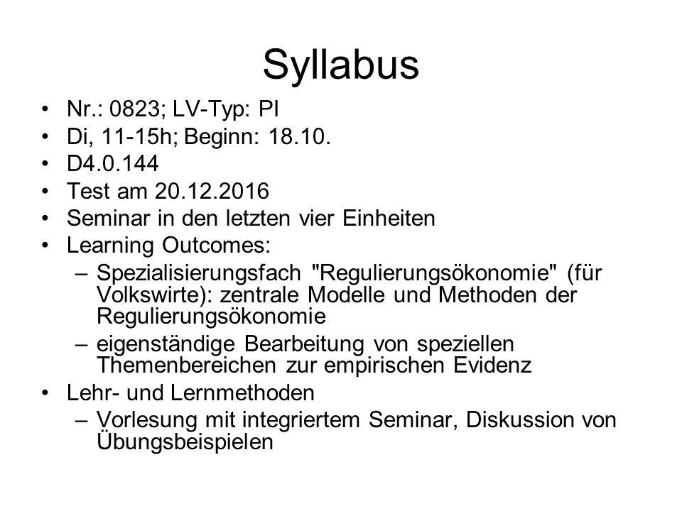 Syllabus Nr.: 0823; LV-Typ: PI Di, 11-15h; Beginn: 18.10.