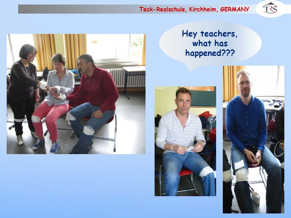 """Teck-Realschule, Kirchheim, GERMANY More """"injured persons"""