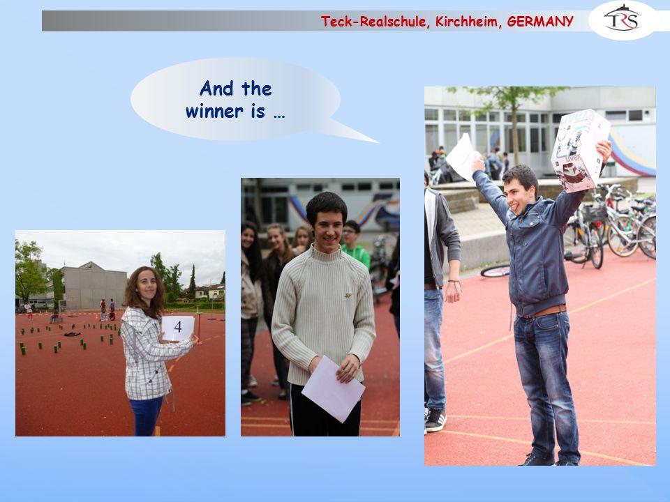 Teck-Realschule, Kirchheim, GERMANY BYE-BYE and see you in France