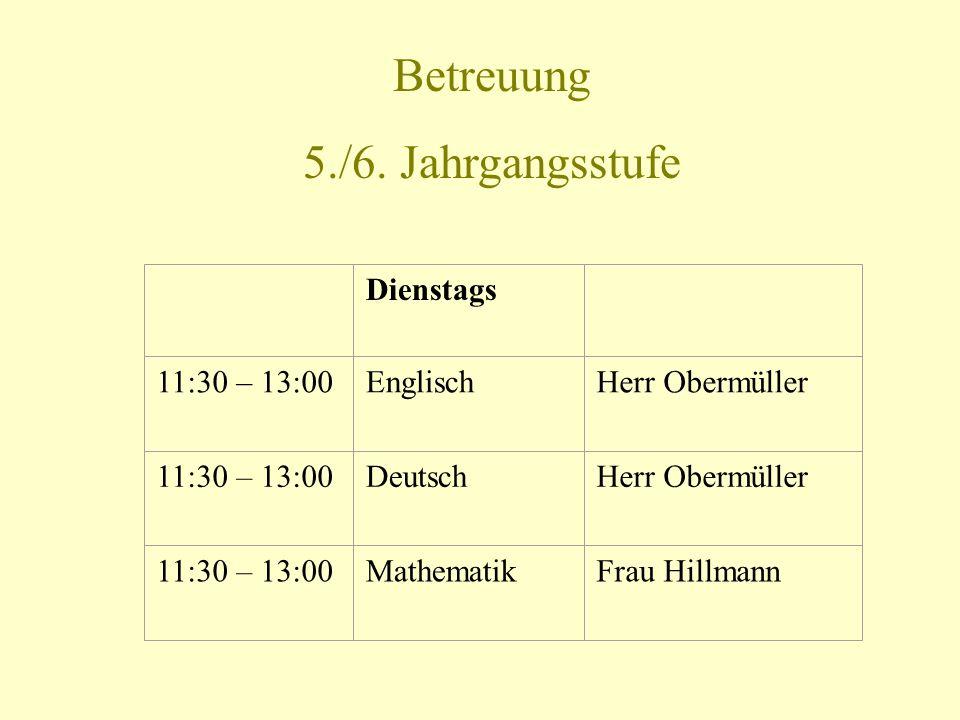13:15 – 14:00Englisch, Kl. 7Frau Djeddi 13:15 – 14:45Chemie, Kl.
