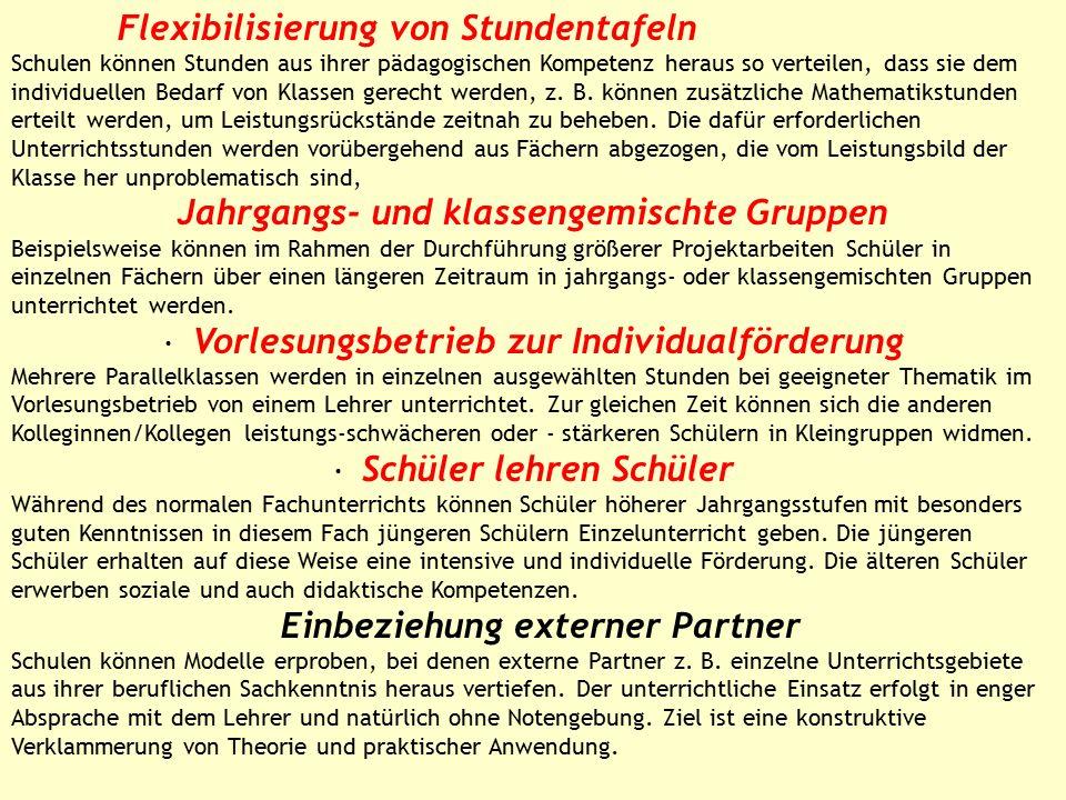 Qualität von Unterricht und Erziehung Inner- und außerschulische Partnerschaften Sachmittelverantwortung Personalmanagement und Personalführung