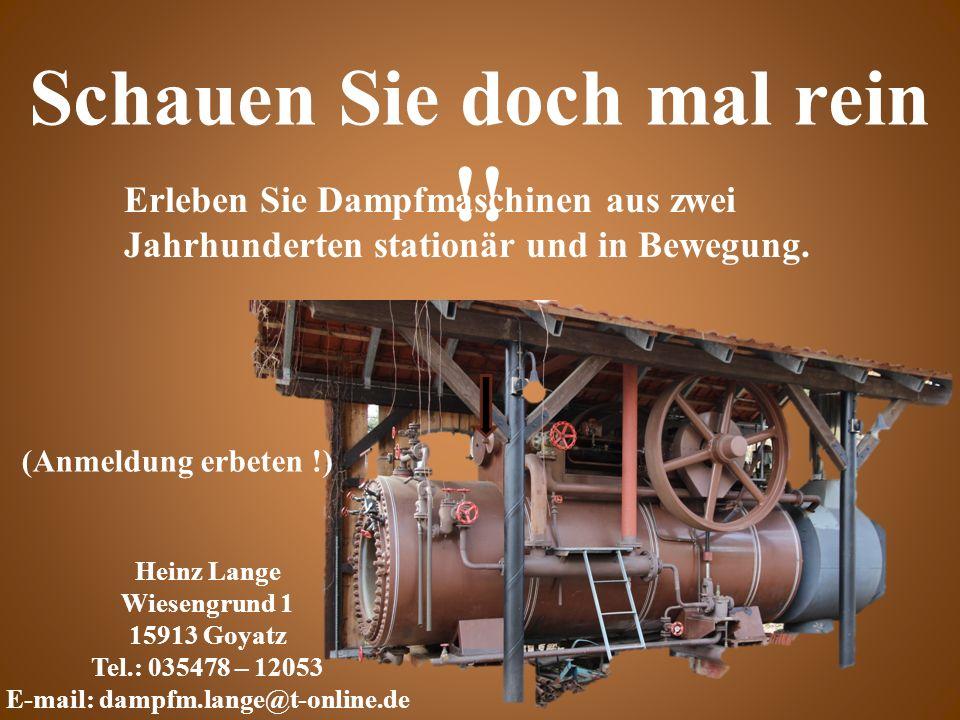 Erleben Sie Dampfmaschinen aus zwei Jahrhunderten stationär und in Bewegung.