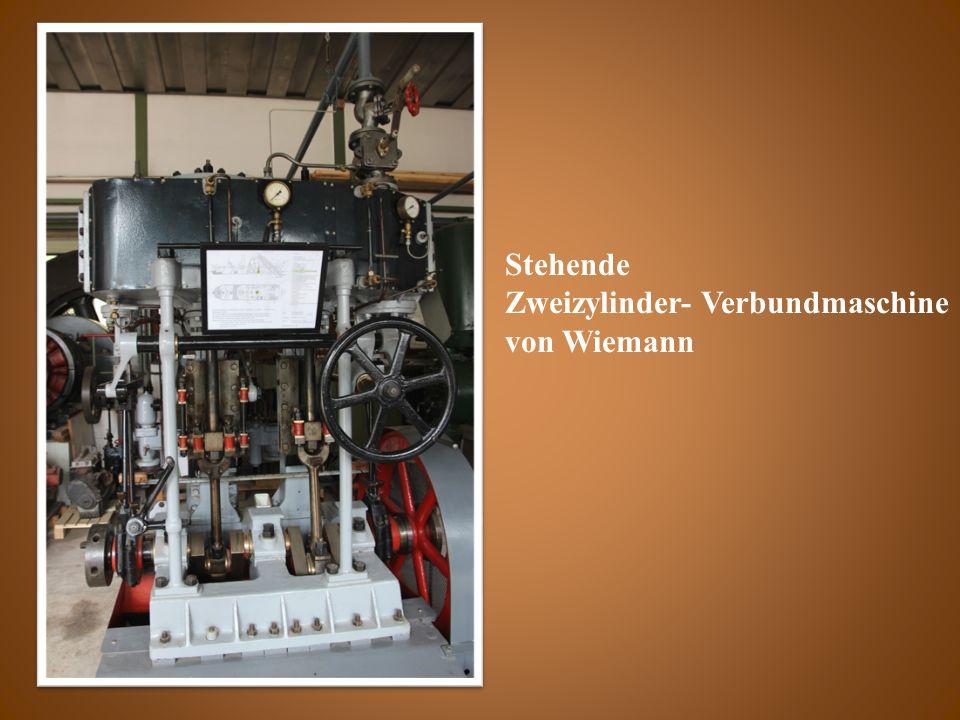 Stehende Zweizylinder- Verbundmaschine von Wiemann