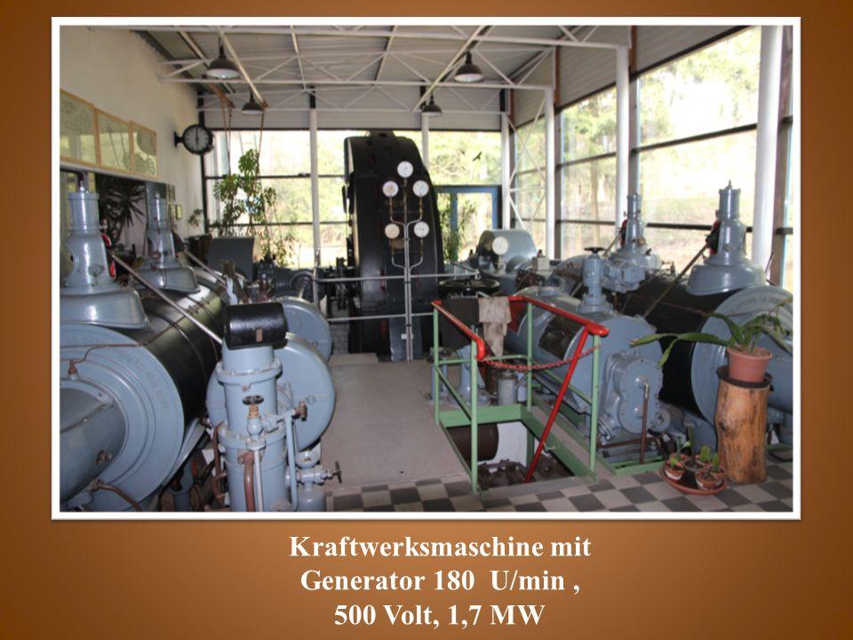 Kraftwerksmaschine mit Generator 180 U/min, 500 Volt, 1,7 MW