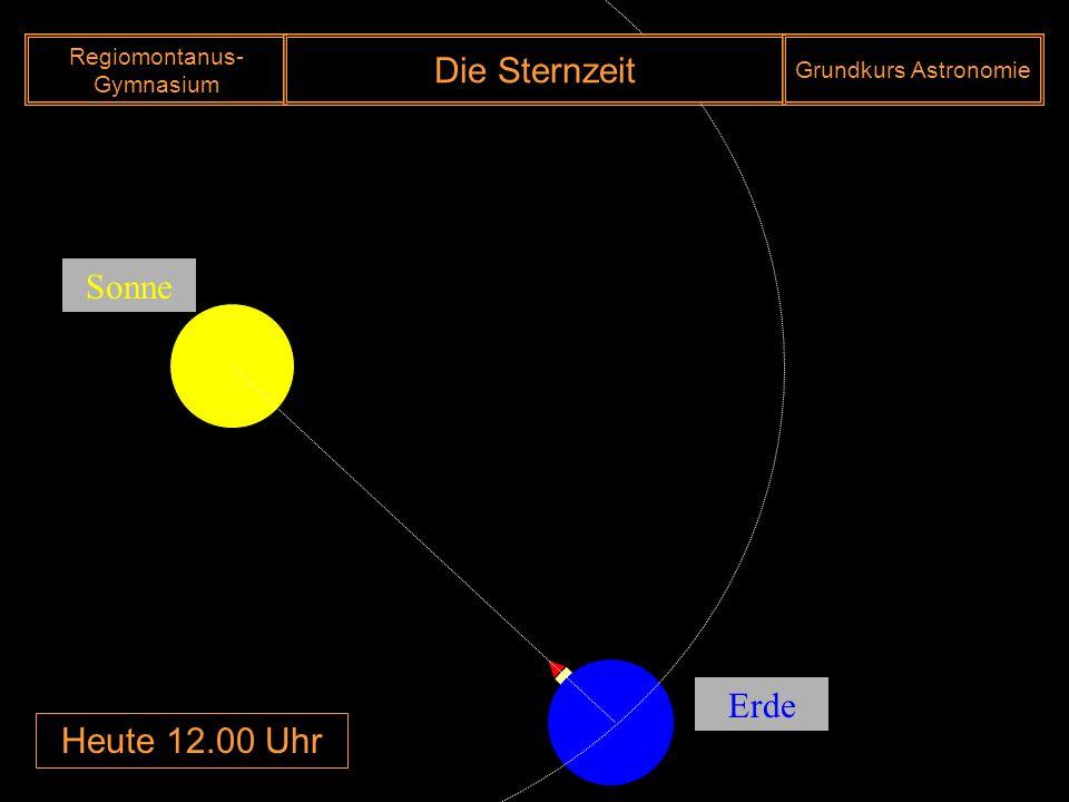 Heute 12.00 Uhr Sonne Erde Regiomontanus- Gymnasium Die Sternzeit Grundkurs Astronomie