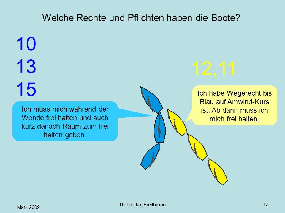 März 2009 Uli Finckh, Breitbrunn12 Welche Rechte und Pflichten haben die Boote.