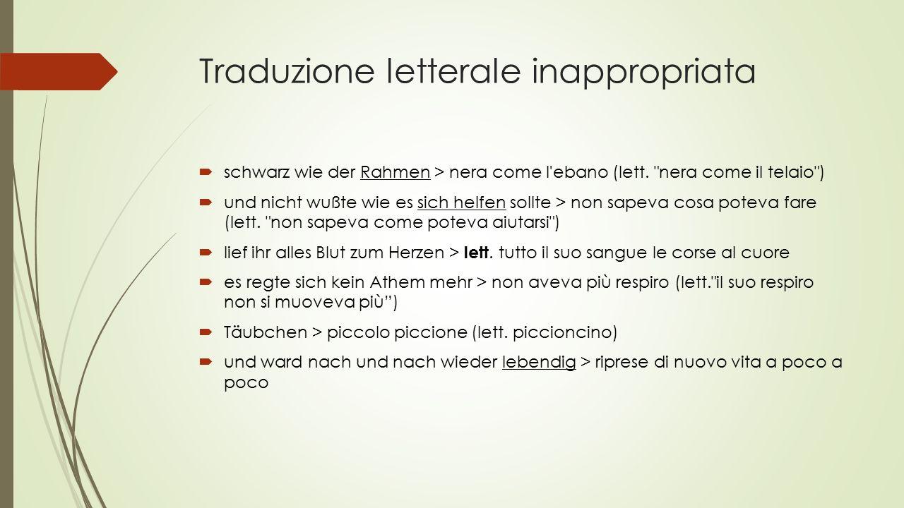 Traduzione letterale inappropriata  schwarz wie der Rahmen > nera come l ebano (lett.
