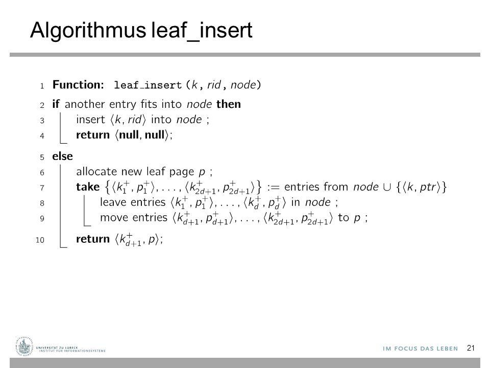 Algorithmus leaf_insert 21
