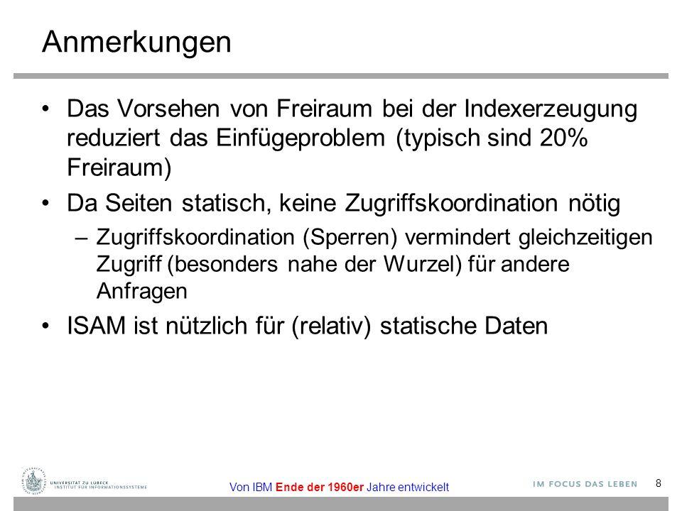 Dynamisches Hashen Problem: Wie groß soll die Anzahl n der Hash-Felder sein.