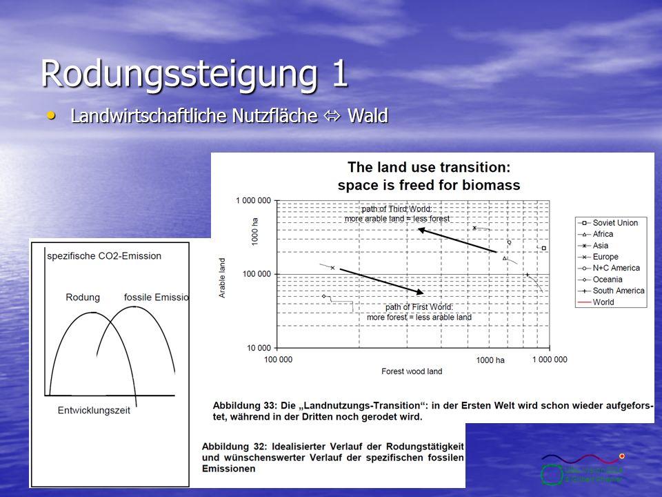 10.2.2004Seite 28 UBA-Vision 2004 © Gilbert Ahamer Rodungssteigung 1 Landwirtschaftliche Nutzfläche  Wald Landwirtschaftliche Nutzfläche  Wald