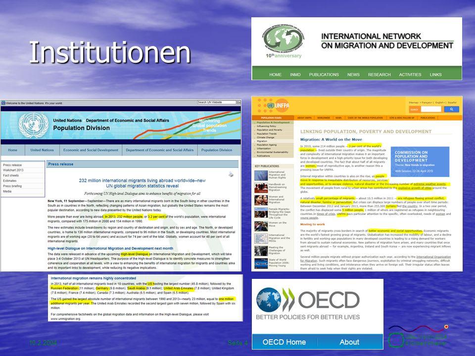 10.2.2004Seite 5 UBA-Vision 2004 © Gilbert Ahamer Inter-institutionelle Kooperation