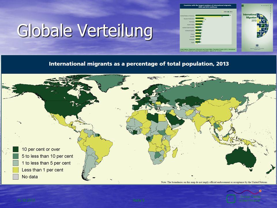 16.10.2013Seite 6 Global Trends Gilbert Ahamer Globale Verteilung