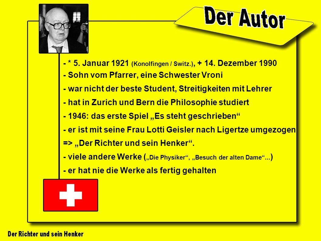 - * 5. Januar 1921 (Konolfingen / Switz.), + 14.
