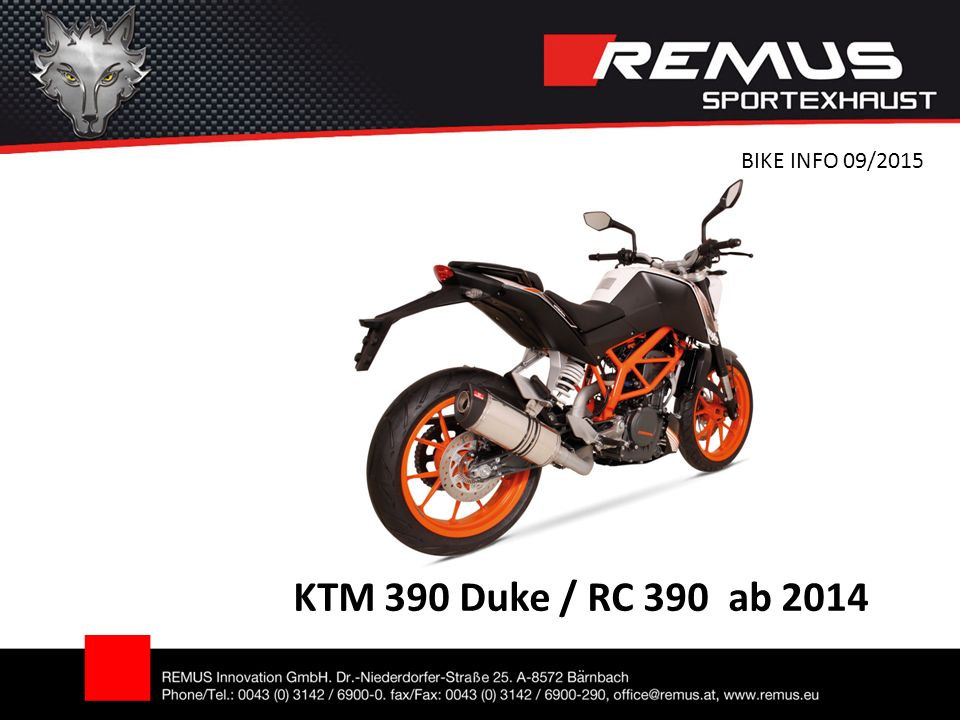 KTM 390 Duke / RC 390 ab 2014 BIKE INFO 09/2015