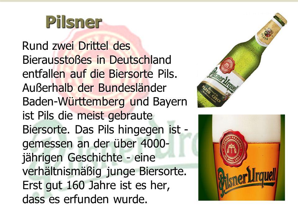 Pilsner Rund zwei Drittel des Bierausstoßes in Deutschland entfallen auf die Biersorte Pils.