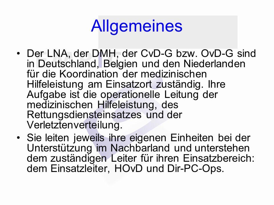 Allgemeines Der LNA, der DMH, der CvD-G bzw.