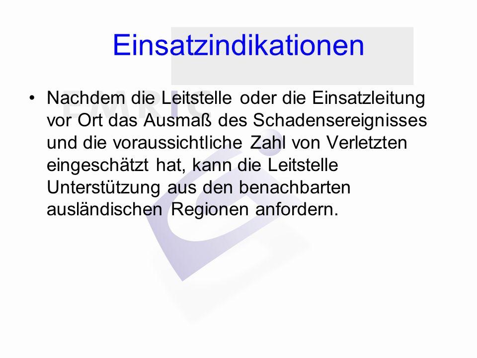 Beendigung des Einsatzes Das Ende des grenzüberschreitenden Einsatzs wird den beteiligten Leistellen von der Leitstelle, die die Unterstützung angefordert hat, direkt sowohl mündlich als auch schriftlich mitgeteilt.