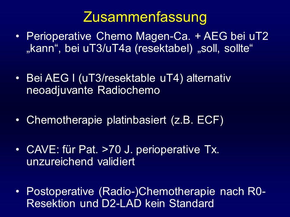 Zusammenfassung Perioperative Chemo Magen-Ca.