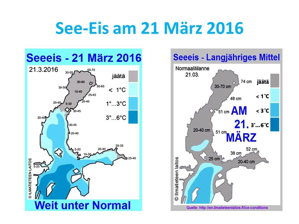 See-Eis am 21 März 2016