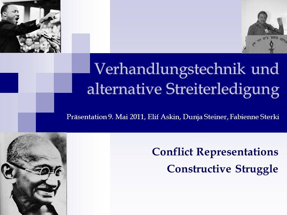Conflict Representations Constructive Struggle
