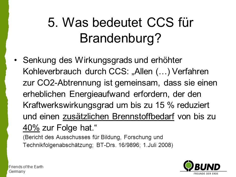 5. Was bedeutet CCS für Brandenburg.